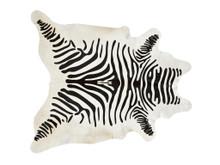 DILLON ZEBRA COWHIDE, Black & Off White