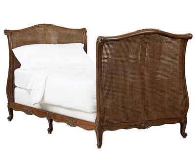Twin-size Louis XV caned daybed shown in Old World Finish $3795.00