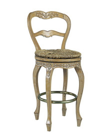French Ladderback counter-height swivel stool
