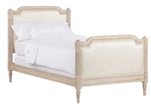 Finish: White Pickled Oak Twin Louis Luxury Bed