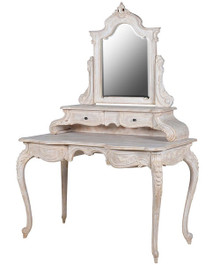 French Chateau Vanity Table, Louis XVI Style