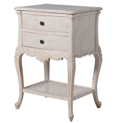 Chateau Whitewashed Side Table