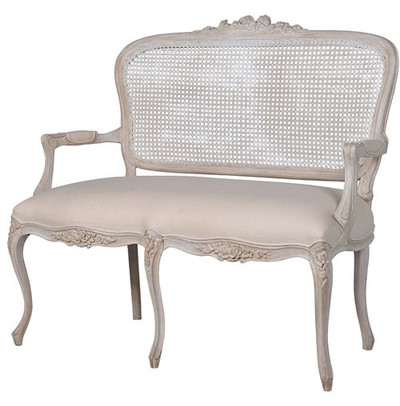 Chateau Whitewashed Rattan Loveseat