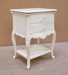 Chateau White Night Table, Louis XVI Style