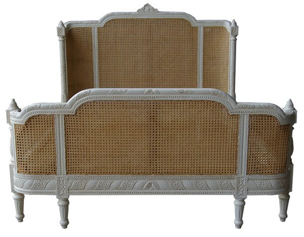 Rattan Bed French Provincial Bedroom Furniture