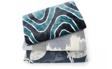 Drenched Color Fabric Collection, Batik Blue