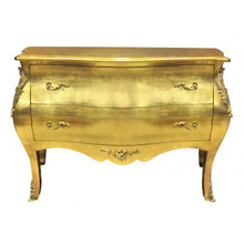 Baroque Chest of Drawers, Louix XV Gold Leaf 2 Drawers