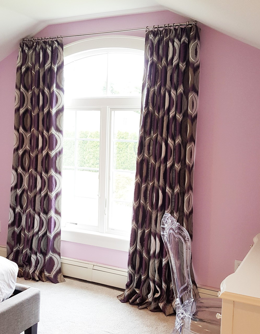 Purple And Silver Curtain