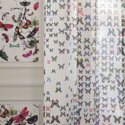 ... Butterfly Parade Shower Curtain. Image 1