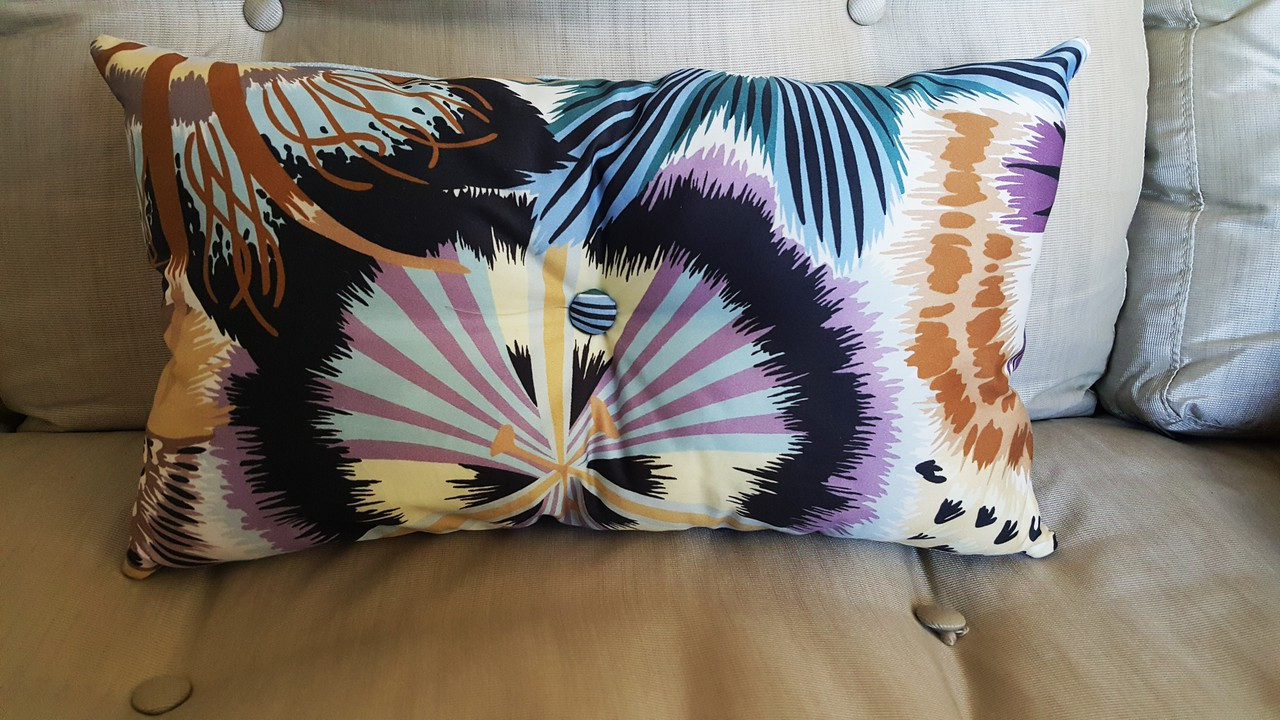 Missoni Olga Lumbar Pillow Designer Throw Pillows