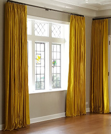 Luxury Silk Dutchess Curtain on a Decorative Pole