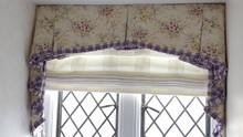 Pleated Roman Shade With Valance