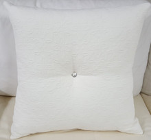 Matelasse Throw Pillow, Charlotte Moss Fabric