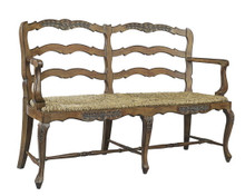 French Ladderback loveseat