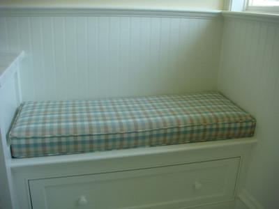 Window seat cushion for playroom foam & Dacron insert