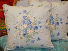 Summer Bouquet Throw Pillow, Fabric by Jane Chruchill