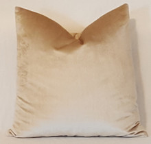Velvet Throw Pillow, Beige Ralph Lauren
