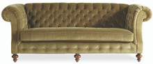 London Chesterfield Sofa, Velvet