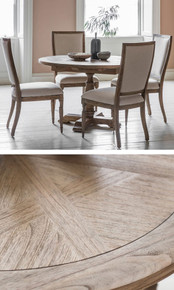 Round Ash Dining Table and Chair Set