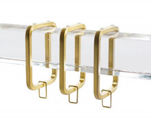 Lucite Window Hardware Set, Satin Gold, 4 Feet