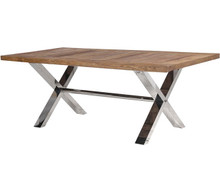 Chrome Cross Leg Dining Table