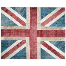 UNION JACK PATCHWORK RUG, 3'10 X 5'2