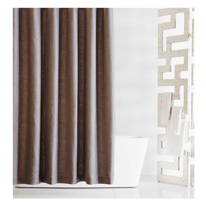 Madison Linen Shower Curtain Grey