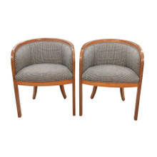 MID-CENTURY BENTWOOD ARMCHAIRS, PAIR