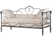 Ornate Iron Daybed