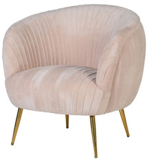 Pink Velvet Art Deco Chair