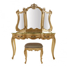 Baroque Vanity set, Gold