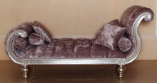 Hermes Tufted Rolled Arm Chaise