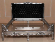 Hermes Baroque Wing Bed, Black And Silver