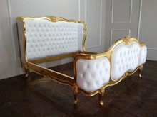Wing Bed Tufted, Versailles Gold