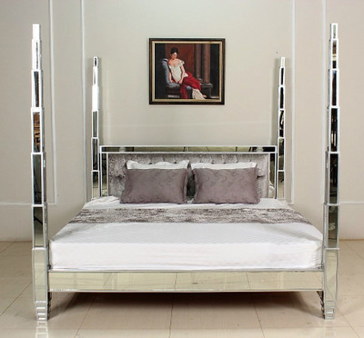 Mirrored Four Poster Bed In Canada