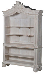 Chateau Whitewash Bookcase
