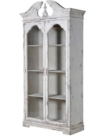 White Distressed Shabby Chic Bookcase