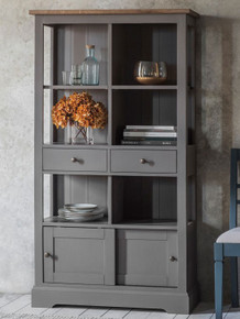 Grey Rustic Modern Bookcase