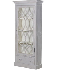 French Ornate Narrow Bookcase