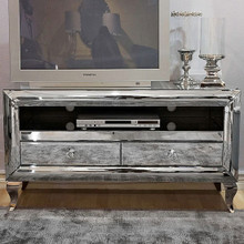 Mirrored TV Stand With French Legs