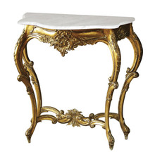 Versailles Small Console Table with Marble Top