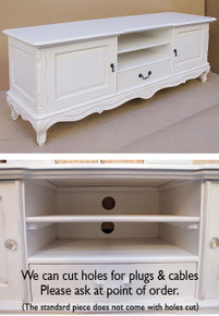 French Chateau White Low Sideboard TV Unit