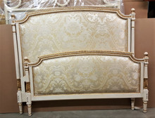 Louis XVI Bed, Cream with Gold Leaf Accents
