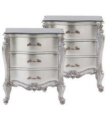 Rococo Silver Bedside