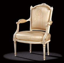Louis XVI Armchair, Gold And Cream