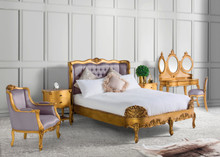 Versailles Tufted Bedroom Set, Rose Gold