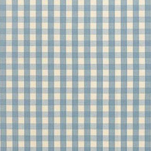 Schumacher Elton Cotton Check Sky Fabric