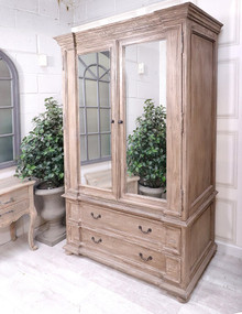 French Royal Grand Mirrored Wardrobe