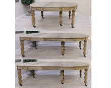 French Reclaimed Extending Dining Table