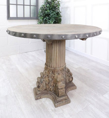 French Reclaimed Studs Dining Table